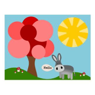 Charlie la tarjeta del burro hola
