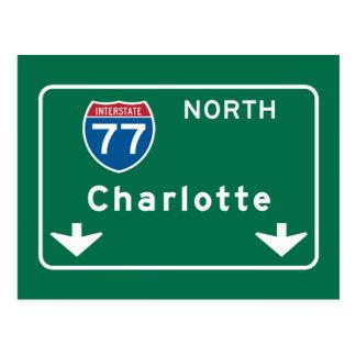 Charlotte, señal de tráfico del NC Postal
