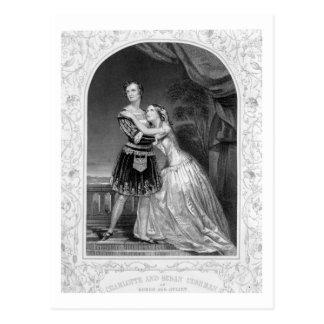 Charlotte y Susan Cushman como Romeo y Juliet, A Postal