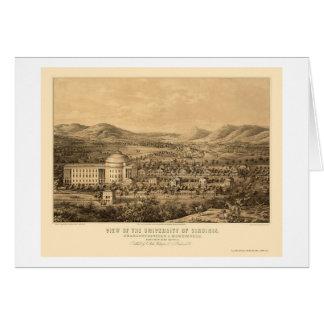 Charlottesville, mapa panorámico del VA - 1856 Tarjeta De Felicitación