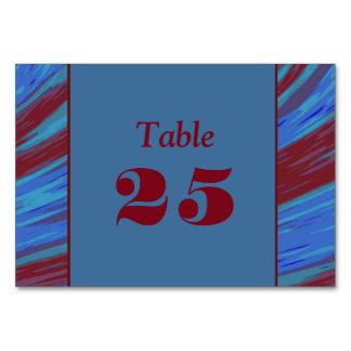 Chasquido azul del color rojo tarjeta