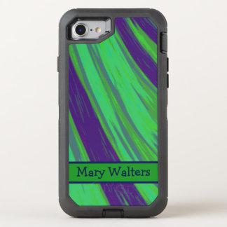 Chasquido azulverde del color funda OtterBox defender para iPhone 7