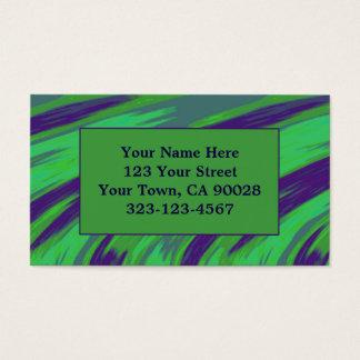 Chasquido azulverde del color tarjeta de negocios