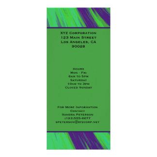 Chasquido azulverde del color tarjeta publicitaria personalizada