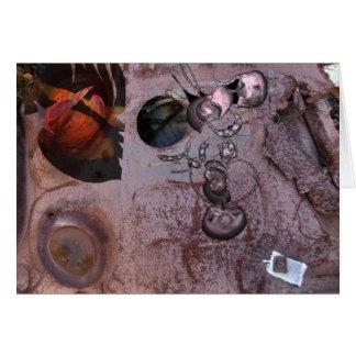 Chatarra y collage digital de la pintura tarjeta de felicitación