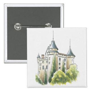 Chateau de Mercues, Francia Chapa Cuadrada