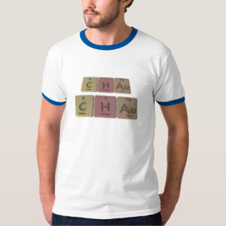 Chau como oro del hidrógeno del carbono camiseta