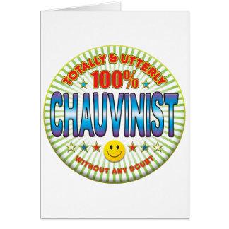 Chauvinista totalmente felicitación