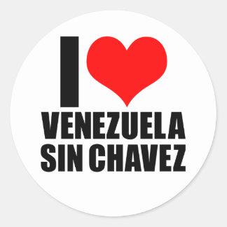 chaves del pecado de Venezuela Pegatina Redonda