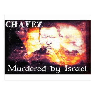 Chavez asesinó por Israel Tarjeta Postal