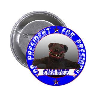 Chavez para el presidente chapa redonda de 5 cm