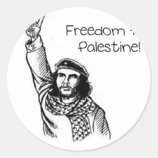 ¡Che Guevara, libertad para Palestina! Pegatina Redonda