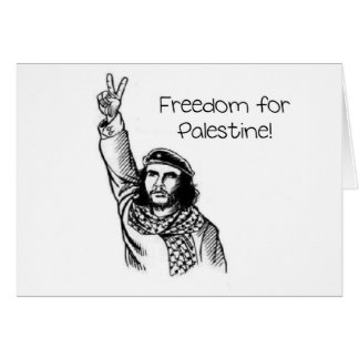 ¡Che Guevara, libertad para Palestina! Tarjeta De Felicitación