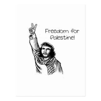 ¡Che Guevara, libertad para Palestina! Postal