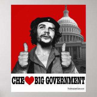 Che Guevara - poster grande del gobierno del coraz