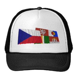 Checo y banderas que agitan del sur de Bohemia Gorra