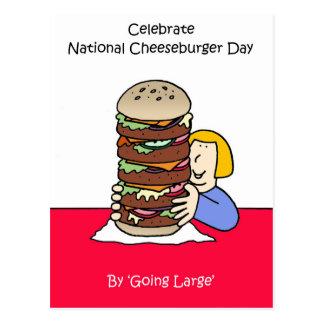 Cheeseburger día 18 de septiembre nacional postal