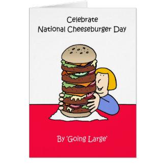 Cheeseburger día 18 de septiembre nacional tarjeta
