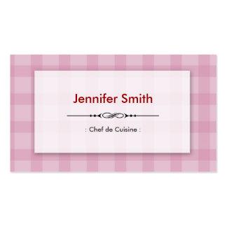Chef de Cuisine - cuadrados rosados bonitos Tarjetas De Visita