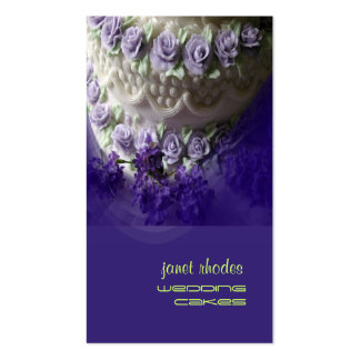 Chef de repostería de los pasteles de bodas tarjetas de visita