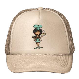 Chef de repostería de sexo femenino - camisetas y gorra