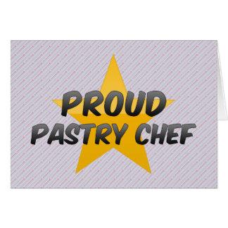 Chef de repostería orgulloso felicitación