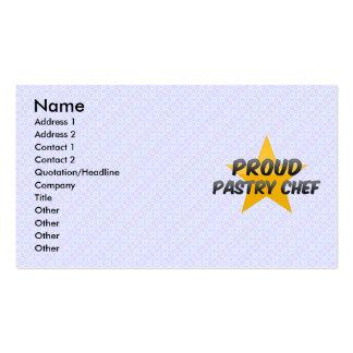 Chef de repostería orgulloso plantilla de tarjeta de visita