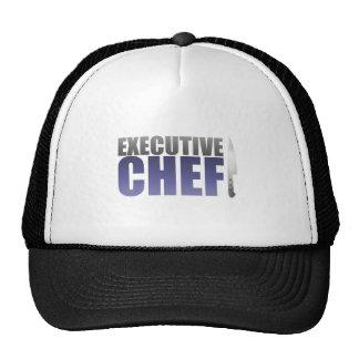 Chef ejecutivo azul gorra