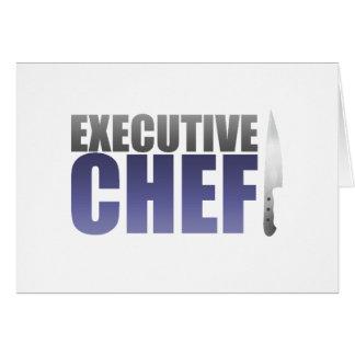Chef ejecutivo azul felicitacion