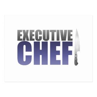 Chef ejecutivo azul postal