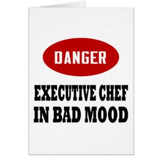 Chef ejecutivo divertido tarjeta de felicitación