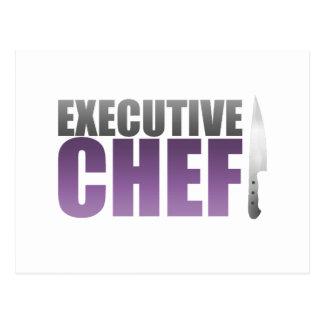 Chef ejecutivo púrpura tarjetas postales