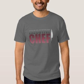 Chef ejecutivo rojo camisetas
