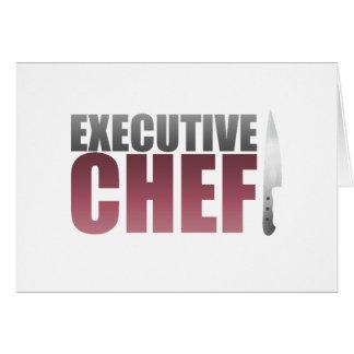 Chef ejecutivo rojo felicitación