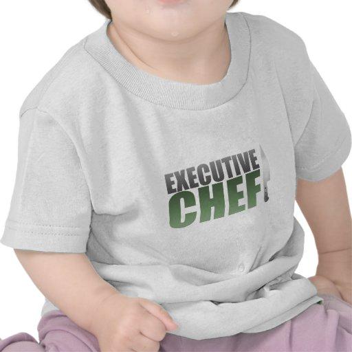Chef ejecutivo verde camiseta