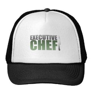 Chef ejecutivo verde gorros