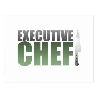 Chef ejecutivo verde postal