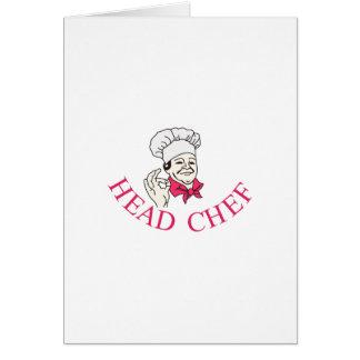 Chef Tarjeta De Felicitación