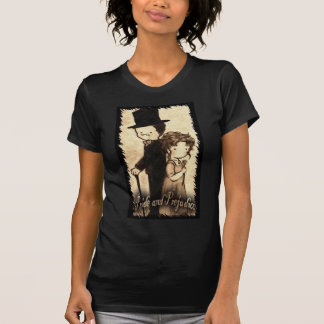 "Chelsea Moore--- T cabido ""Lizzy medio negro Benn Camisetas"