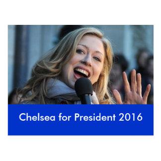 Chelsea para el presidente postal 2016