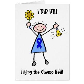 Chemo Bell - mujer del cáncer de colon Tarjeta