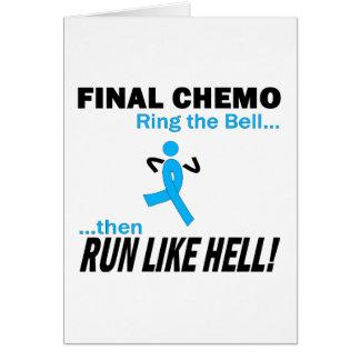 Chemo final corre mucho - cáncer de próstata tarjeta de felicitación