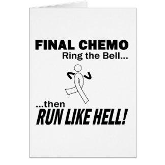 Chemo final corre mucho - cáncer de pulmón tarjeta