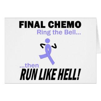 Chemo final corre mucho - cinta de la lavanda tarjeta de felicitación