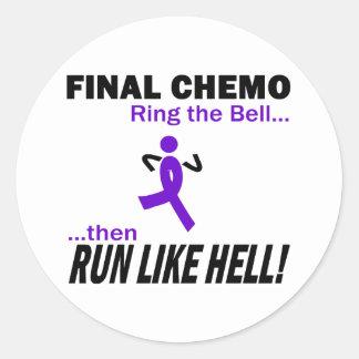 Chemo final corre mucho - la cinta violeta pegatina redonda