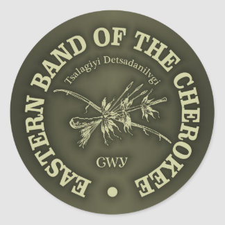 Cherokee (banda del este) pegatina redonda