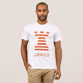 ¡ChessME! Lo contrario blanco añade nombre Camiseta
