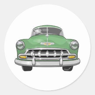 Chevrolet 1952 de lujo pegatina redonda