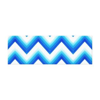 Chevron azul eléctrico impresión en lienzo