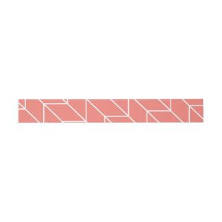 Chevron blanco en la moda moderna rosada coralina cintas para invitaciones